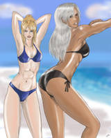 VF_Sarah and Vanessa by MonkeyTheArtist