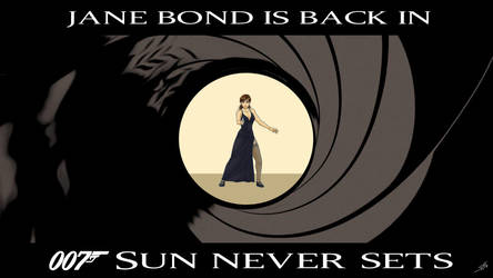 007 Sun Never Sets - Jane Bond Wallpaper by Epe