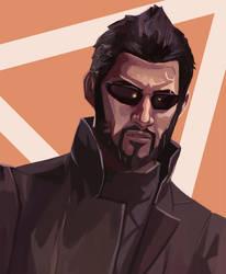Deus Ex - Adam Jensen by AjamsDraws
