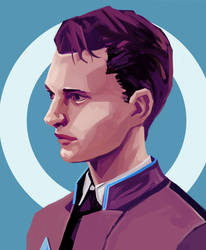 Detroit: Become Human - Connor by AjamsDraws