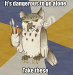 Kalo loves Art Student Owl by Mermaid-Kalo