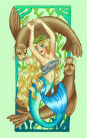 Mucha Mermaids: Spring by Mermaid-Kalo