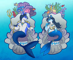 King Neptune and Queen Anahita by Mermaid-Kalo
