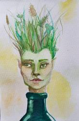 bottled fairy (postcard)  by Lelyawen
