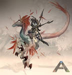 Ark: Survival Evolved - Raptor Rider by EvoBallistics