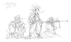 Sketch Dump - Character Set 1 by EvoBallistics