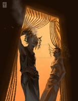 actors in a door by misosoupaddict