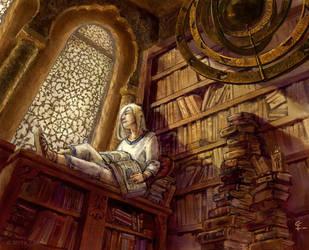 bookshop sun by misosoupaddict