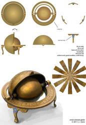 small celestial globe with Arabic by misosoupaddict