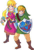 Skyward Link and Zelda HS by Ugh-first-aid