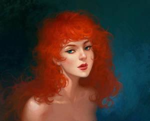 redhead curls by eleth-art