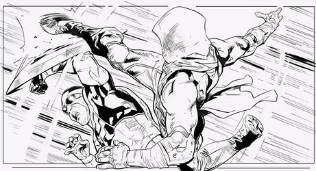 INKS SAMPLES CAPTAIN AMERICA by DanielMaine