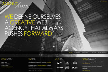 Fullscreen and minimal web agency website by kekkorider