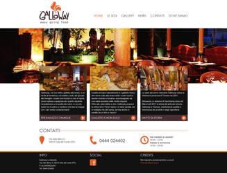 Galloway Restaurant website layout by kekkorider