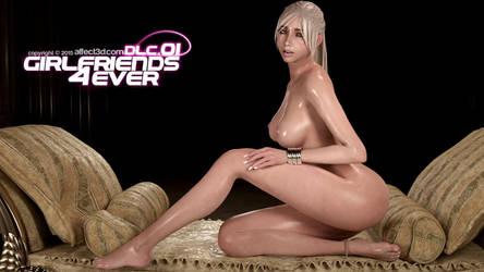 G4E: Sexy Tara stroking her leg by affect3d-com
