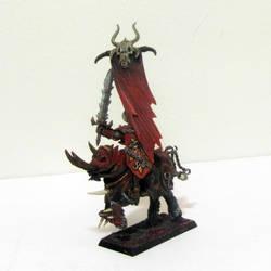 Warriors of Chaos Khorne Knights Standard Bearer by roganzar