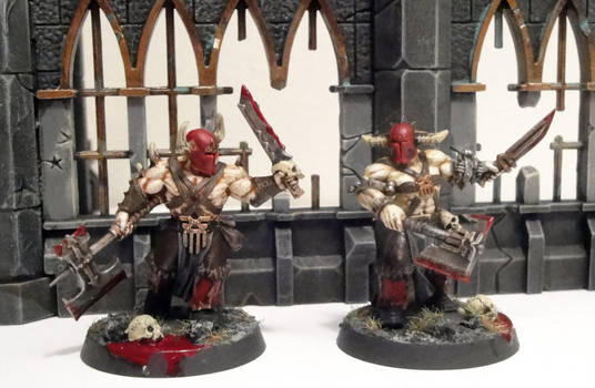 Bloodreavers of Khorne by roganzar