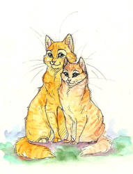 Fireheart and Sandstorm. by ThePyf