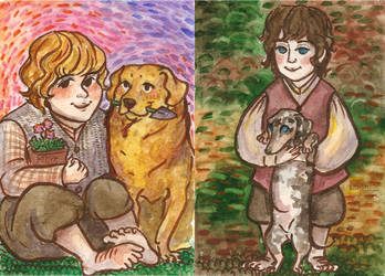 lotr characters and their pets by ThePyf