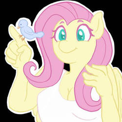 Fluttershy Sticker by insignificant-art