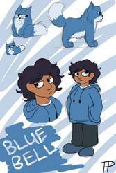 Blue Bell Doodles by Tangerineandpuce