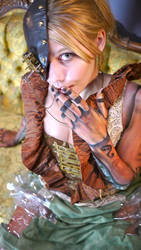 Wooden Steampunk Girl 4 by OldirtyZombie
