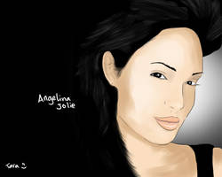 digital painting_angelina jolie by taramultimedia