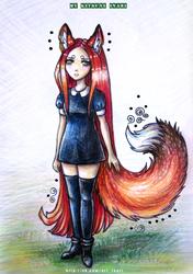 Sad kitsune by Kitsune-Inari-sama
