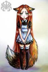 Cute fox by Kitsune-Inari-sama