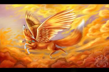 Winged fox by Kitsune-Inari-sama