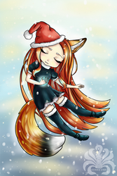 Christmas fox (lol) by Kitsune-Inari-sama