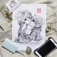 Inktober D3: Donkey Kong by kuma-panda