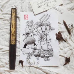 Inktober D17: Harvest Moon by kuma-panda