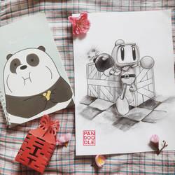 Inktober D22: Bomberman by kuma-panda