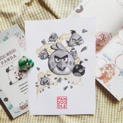 Inktober D28: Angry Birds by kuma-panda