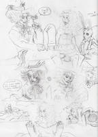 Alice in Wonderland Sketches 3 by PieMakesMeHappy123