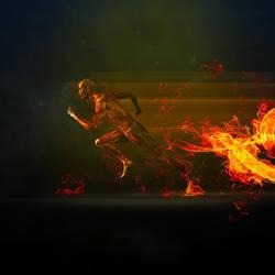 Running Fire by karimbalaa