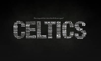 Celtics - Typography - Light by karimbalaa