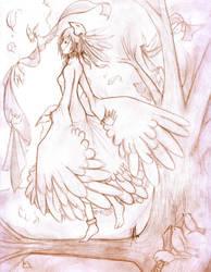 Sparrow Princess by KitsuneAyame