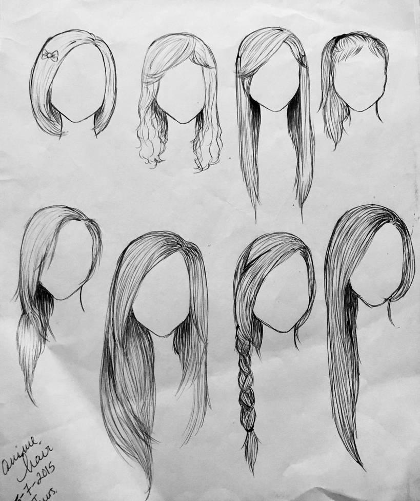 anime hair templates recreation by anjellike1 on deviantart