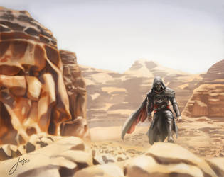 Ezio's journey to Masyaf by JophielS