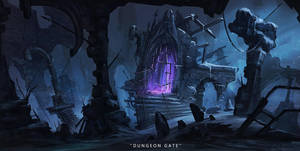 RPG Challenge-Dungeon Gate by JustMick