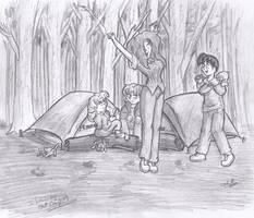 Camping Sketch by CDRudd