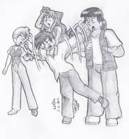 Sketch 2014 Wolfpac Gang by CDRudd