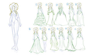 Bay Wedding dress brain storming by CDRudd