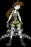 Agent Anderson as Lara Croft by CDRudd