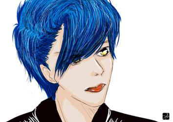 Blue-man by Vanzhoel