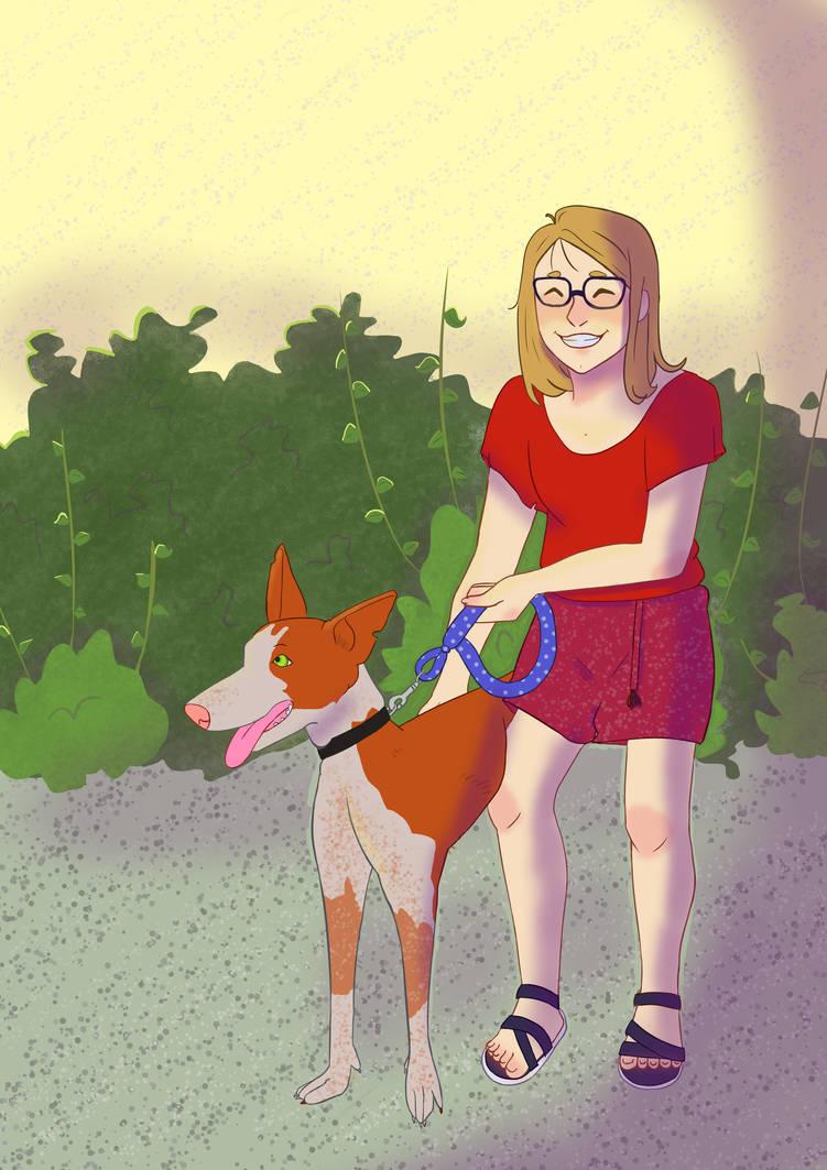 My new doggo and moi by Nadieewe