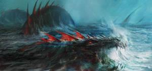Midgard Serpent by Manzanedo