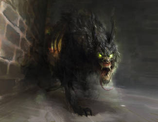 A Hound of Tindalos by Manzanedo